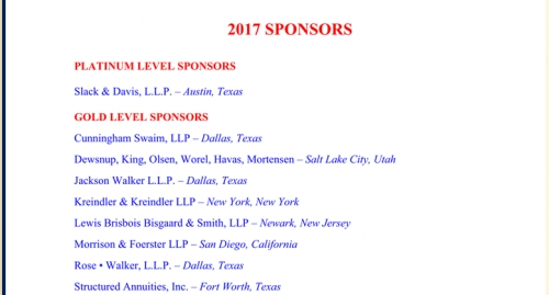 DKOW Sponsors 51st Air Law Symposium